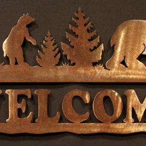 Bear Welcome Sign 24""