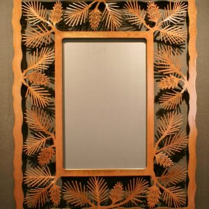 Pine Cone Frame Mirror Large
