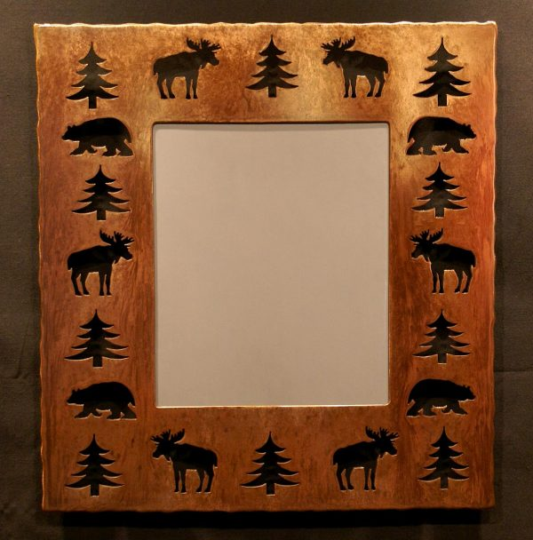 Bear Moose Tree Cut Out Mirror