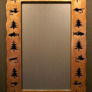 Fly Fish Tree Cut Out Mirror