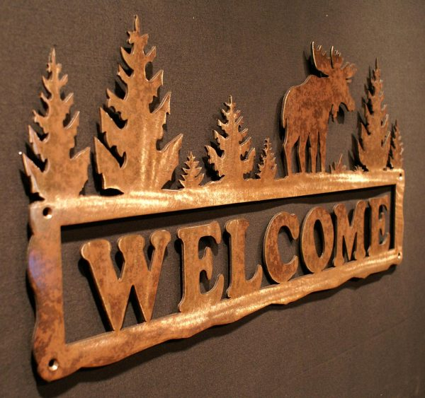 """Moose Welcome Sign 24"""""""