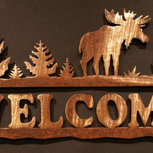 Moose Welcome Sign 24""