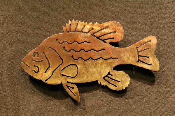 "Pan Fish 8"" Silhouette"