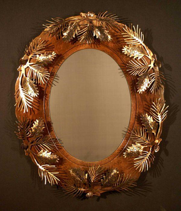 Pine Cone Oval Mirror