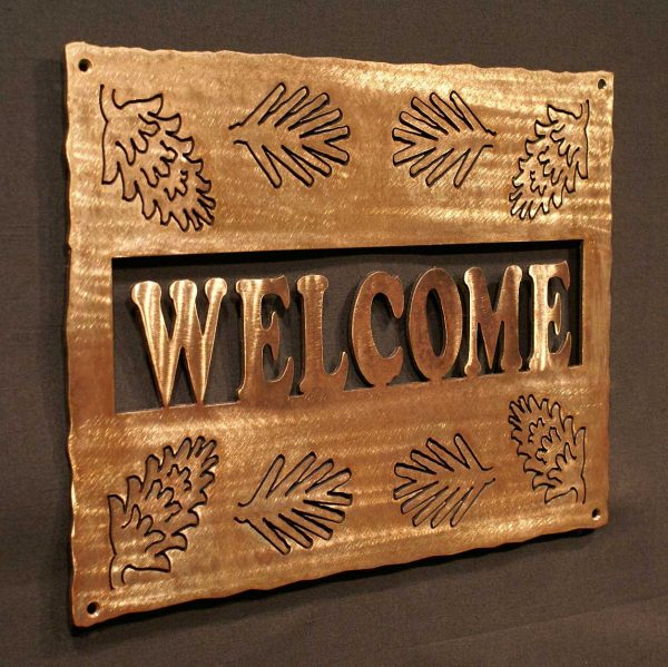"""Pine Cone Welcome Sign 16"""""""