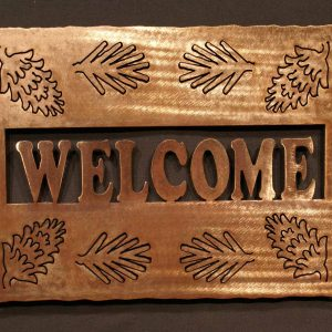 Pine Cone Welcome Sign 16""