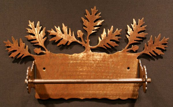 Oak Leaf Paper Towel Holder