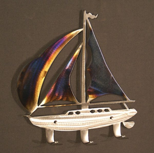 "Sailboat 15"" Coat Rack"