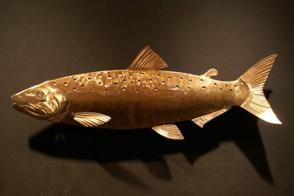 "Salmon Sculpted 34"" Fish Copper"