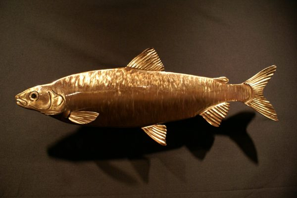 """Whitefish Sculpted 34"""" Fish"""