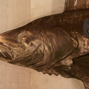 """Walleye Sculpted 34"""" Fish Copper"""