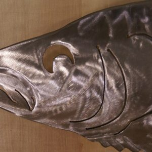 """Walleye Sculpted 34"""" Fish Silver"""
