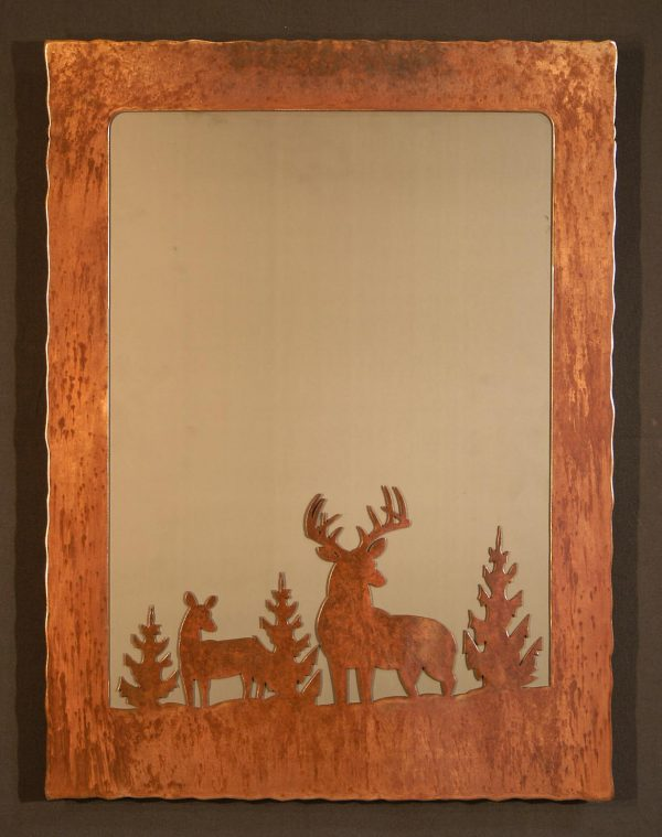 Buck Doe Scene Mirror
