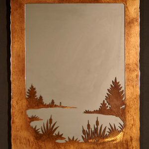 Loon Scene In Mirror