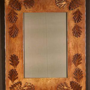 Pine Cone Silhouette Mirror