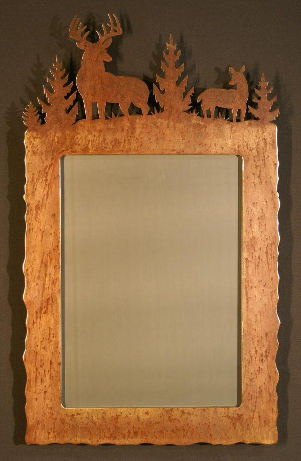 Buck Doe Scene Top Mirror