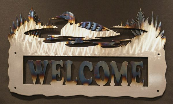 """Loon Welcome Sign 24"""""""