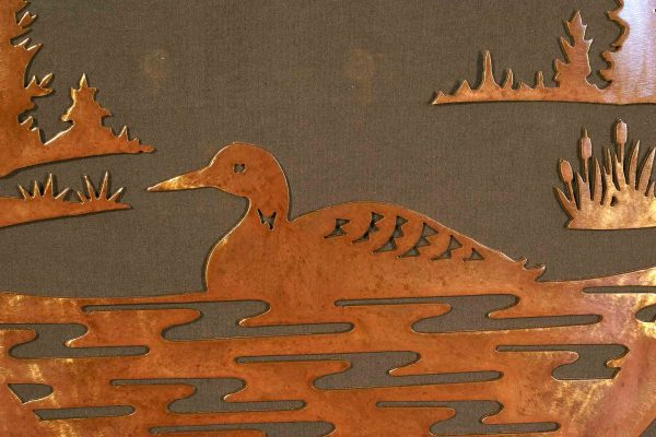 """Loon 24"""" Round Wall Plaque"""