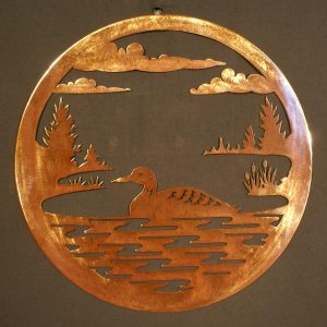 "Loon 24"" Round Wall Plaque"