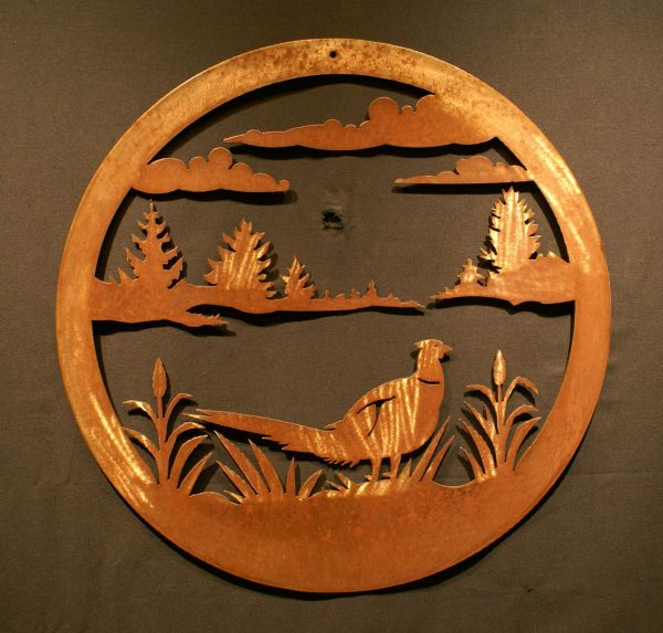 "Pheasant 24"" Round Wall Plaque"