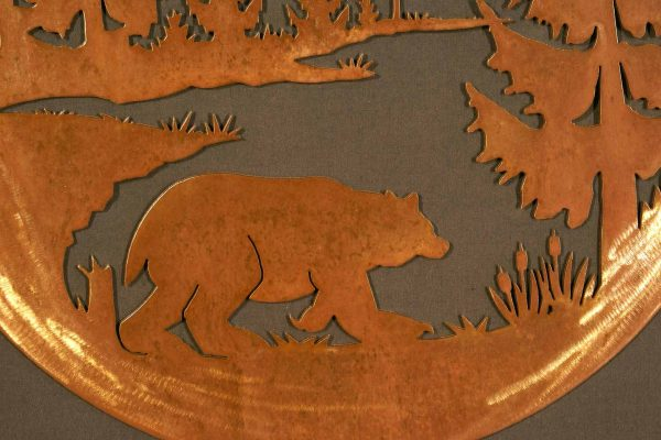 """Bear 24"""" Round Wall Plaque-297"""