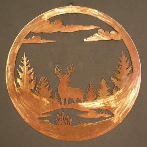 "Buck 24"" Round Wall Plaque-0"