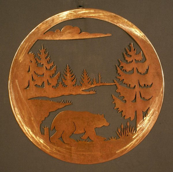 """Bear 24"""" Round Wall Plaque-0"""