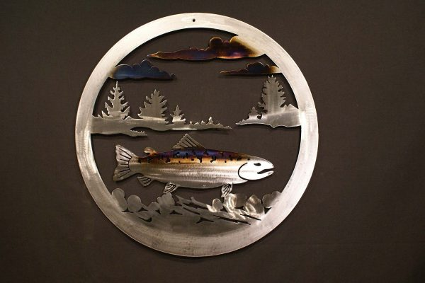 "Trout 24"" Round Wall Plaque-0"