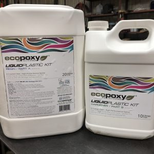 EcoPoxy Liquid Plastic 2:1 Ratio 30L Kit