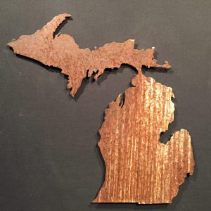 Michigan Silhouette Wall Art 24″