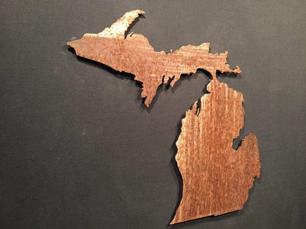 Michigan Silhouette Wall Art 24″