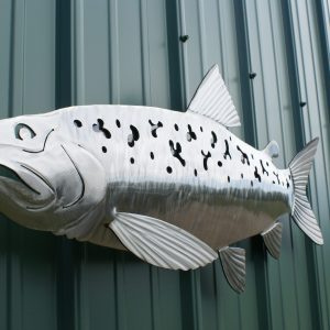 """Trout Sculpted 34"""" Fish Silver"""